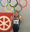 Diana Tomulets wird Deutsche Seniorenmeisterin im Dreisprung