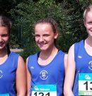 Platz 1 und 3 für die 13-jährigen Mädchen im Vierkampf
