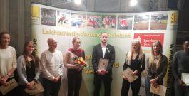 Meret Joeris vom MTV bei der Meisterehrung in Trier – Die junge Athletin ist auf Platz 1 der Deutschen Bestenliste